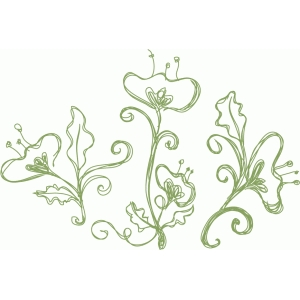flower motifs sketch