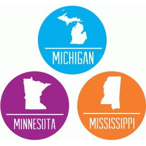 state badges - mi mn ms