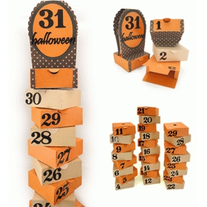 halloween countdown cascade boxes