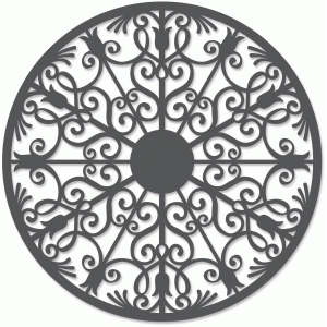 wrought iron circle