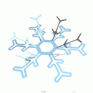 pop-up snowflake