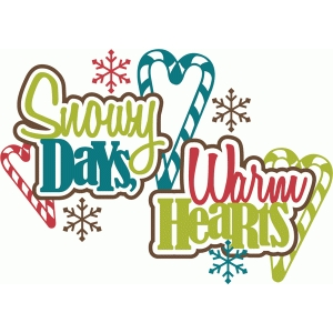 snowy days, warm hearts title