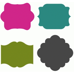 set of 4 tag shapes