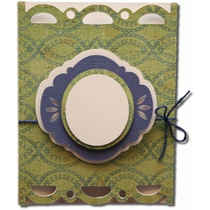 a2 scallop rectangle gatefold card