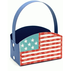 flag circle basket