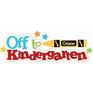 off to kindergarten title