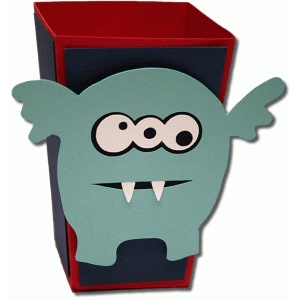 3d monster four popcorn box