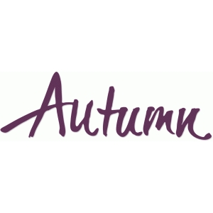 autumn calligraphic title