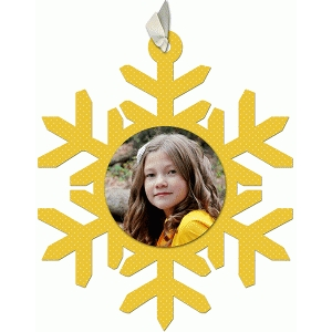 snowflake fancy photo ornament