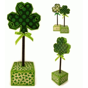shamrock med 3d block stick decor