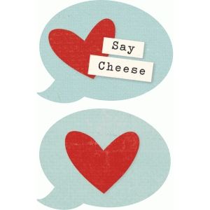 say cheese speech bubble