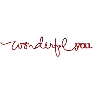word art: wonderful you