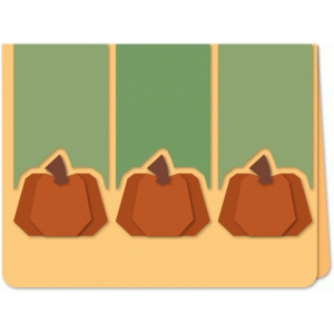 short pumpkin trio a6 card