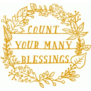 count your many blessings papercut