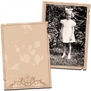 vintage papers or photo mats