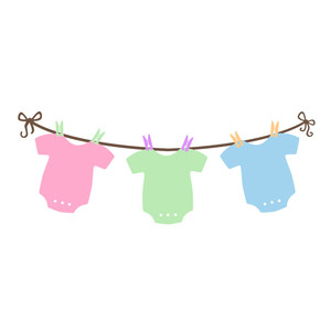 baby one pieces on laundry line