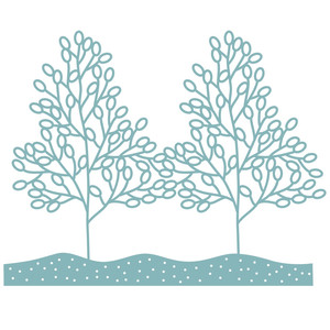 winter trees repeating border