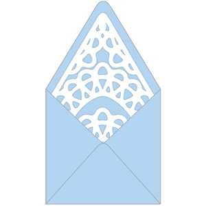 envelope with lace liner