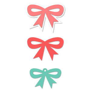 3 ribbon bows