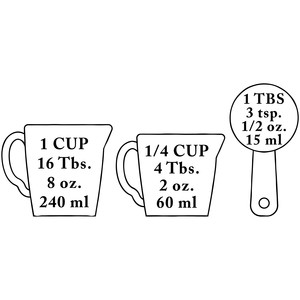 measuring cup conversions
