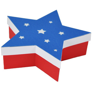 4th of july star box with lid