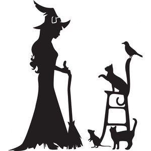 a witch and her pets