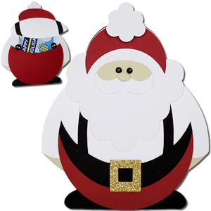 santa suspenders gift card holder