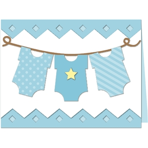 baby boy onesie laundry card kit