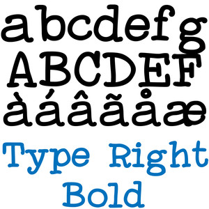 zp type right bold