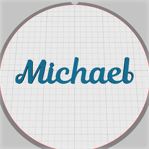 michael name pendant