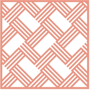 chevron weave lattice