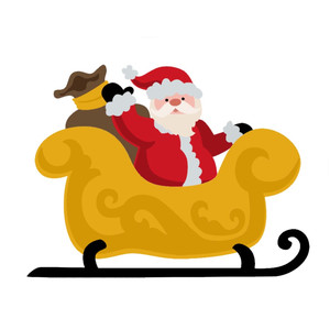 santa in sleigh christmas