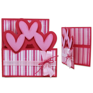 3 heart dutch door card