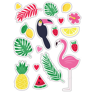 ml tropical toucan stickers