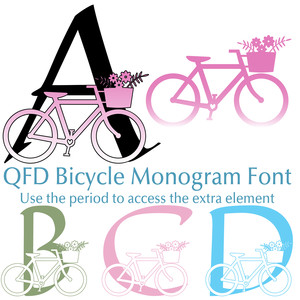qfd bicycle monogram font