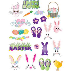 easter bunnies and more planner stickers