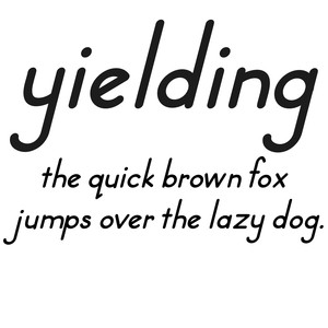 cg yielding font