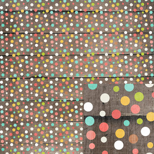 polka dots on wood background paper