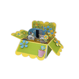 beach fun pop up box card