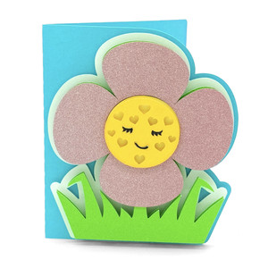 flower and hearts card