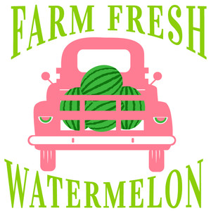 farm fresh watermelon truck