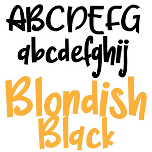 pn blondish black