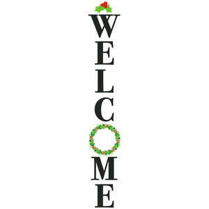 welcome wreath porch sign