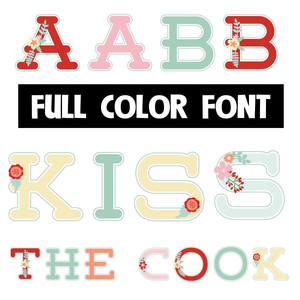 kiss the cook color font