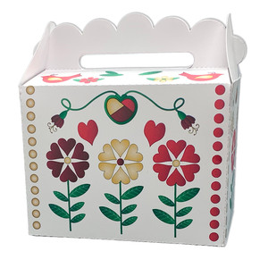 christmas flowered gable box