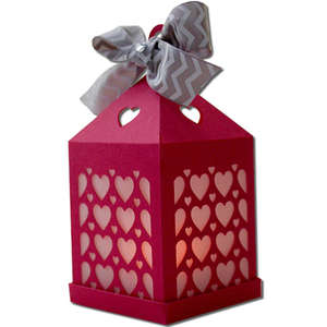 heart pattern hanging tea light lantern