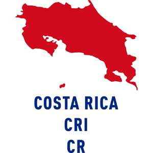 costa rica country outline
