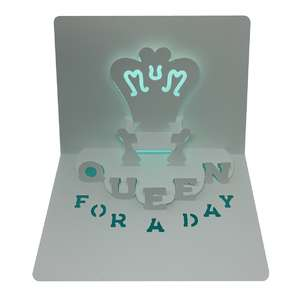 mother's day throne popup card