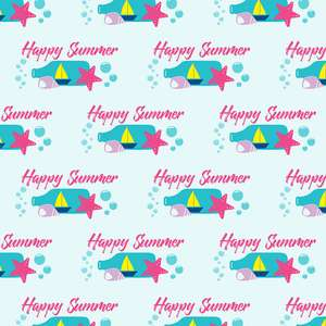 happy summer pattern
