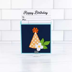 library pocket card birthday hat
